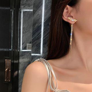 Pop Lop - Rhinestone Fringed Earring
