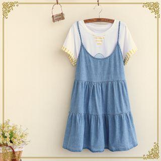 Kawaii Fairyland - Denim Jumper Dress
