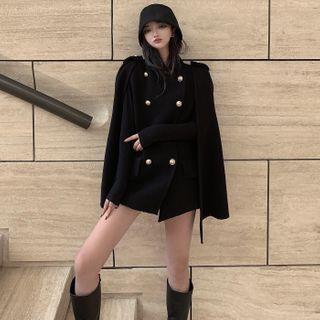 Kizmi - Cape-Sleeve Double-Breasted Coat
