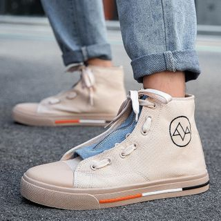 JACIN - High-Top Lace-Up Canvas Sneakers