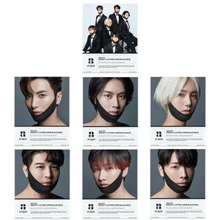 avajar - Perfect V Lifting Super Black Mask Super Junior Limited Edition - 7 Types