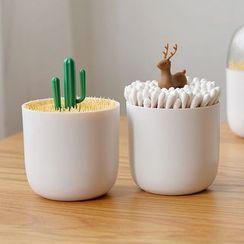 Cute Essentials - Animal / Plant Toothpick / Cotton Swab Holder