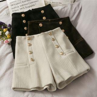 Lemongrass - Chenille Wide-Leg Shorts