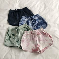 IndiGirl - Drawstring Tie Dye Shorts