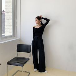 PPGIRL - Pleated-Front Dress Pants