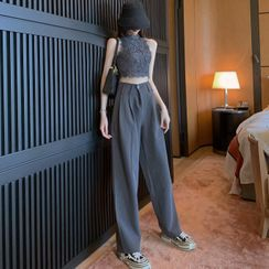 Bebop - Lace Tank Top / Wide-Leg Dress Pants