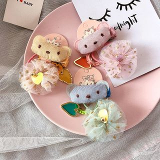 Sweet la Vie - Kids Set of 3: Cartoon Hair Tie + Hair Clip