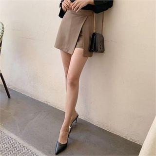 TOM & RABBIT - Inset Shorts Mini Wrap Skirt