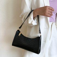 Faneur(ファナー) - Faux Croc Grain Shoulder Bag