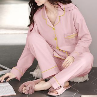PinkPond - Pajama Set: Long-Sleeve Top + Pants