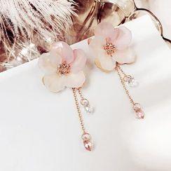 Glamiz - Acrylic Flower Fringed Earring