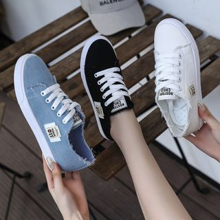 Satomi - Canvas Lace Up Sneakers