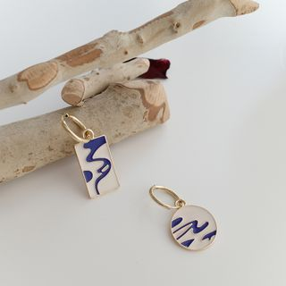 Covette - Non-Matching Sky Print Drop Earring