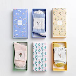 Knit a Bit - Set of 3: Patterned Socks