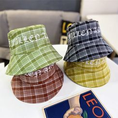 FROME - Lettering  Plaid Bucket Hat