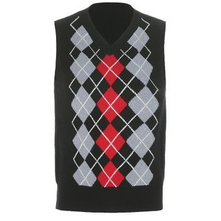 Cincine - V-Neck Argyle Knit Vest