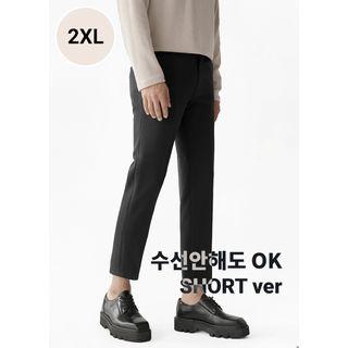 JOGUNSHOP - Straight-Cut Dress Pants in 2 Lengths