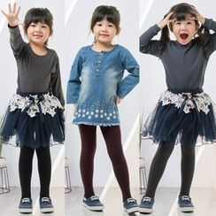 Beauty Focus - Kids Fleece-Lined Tights