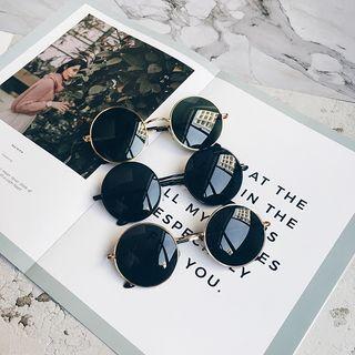 Aisyi - 金属框圆形太阳眼镜