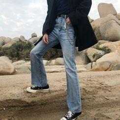 Koiyua - 情侶裝靴型牛仔褲