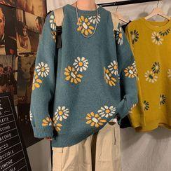 Furtheron - 花朵圖案毛衣