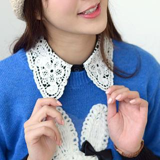 59 Seconds - Decorative Lace Crochet Collar