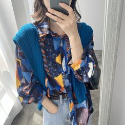 Coolvibe - Long-Sleeve All-Over Print Shirt
