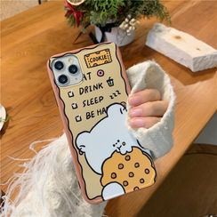 Witheart - Bear & Biscuit Print Mobile Case - iPhone 11 Pro Max / 11 Pro / 11 / XS Max / XS / XR / X / 8 / 8 Plus / 7 / 7 Plus / 6s / 6s Plus