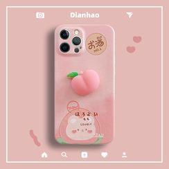 DipCool - Squishy Peach Phone Case - iPhone 12 Pro Max / 12 Pro / 12 / 12 mini / 11 Pro Max / 11 Pro / 11 / SE / XS Max / XS / XR / X / SE 2 / 8 / 8 Plus / 7 / 7 Plus