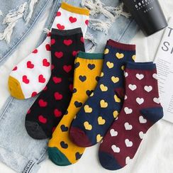 Shippo(シッポ) - All Over Heart Socks
