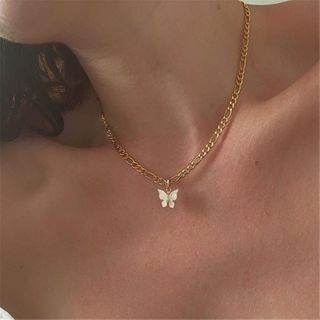 Terreau Kathy - Alloy Butterfly Pendant Necklace