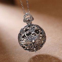 Andante - 925纯银香水圆球吊坠项链