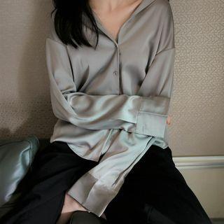 ROAM - Long-Sleeve Satin Shirt
