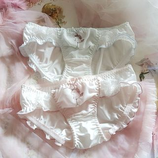 Prinsis - Unicorn Print Lace Trim Panties