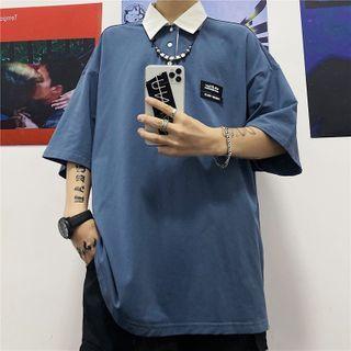 Shineon Studio - 插色马球领衬衫