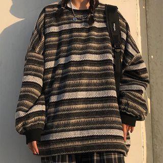 Malnia Home - 条纹宽松毛衣