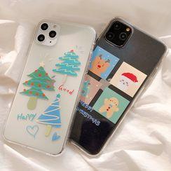 Primitivo - Christmas Cartoon Print Phone Case - iPhone 11 Pro Max / 11 Pro / 11 / XS Max / XS / XR / X / 8 / 8 Plus / 7 / 7 Plus / 6s / 6s Plus