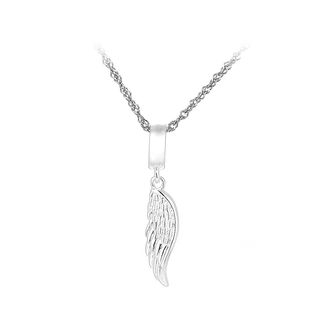 BELEC - 925 Sterling Silver Angel Wing Pendant with Necklace