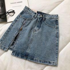 DIYI - A-Line Denim Skirt