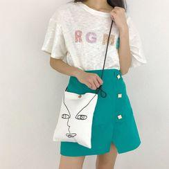 TangTangBags - Face Print Crossbody Bag