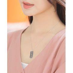 Miss21 Korea - Razor-Blade Silver Necklace