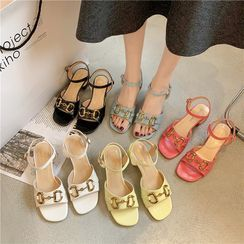 Wello - Block Heel Sandals