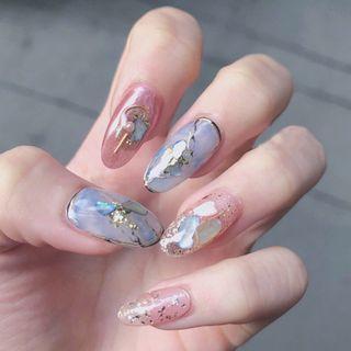 Padoma - Shell Nail Art Dekoration (verschiedene Designs)