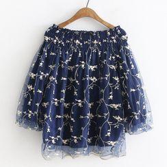 Suzette - 七分袖绣花衬衫