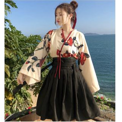 Whoosh - Floral Hanfu Top / A-line Skirt / Midi Skirt