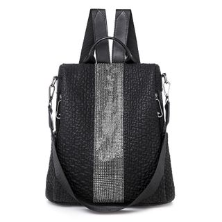 Genova - Faux Leather Striped Backpack