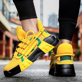 Auxen - Color Block Platform Sneakers