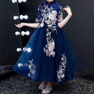 HELLO BABY - 小童中袖A字派對連衣裙