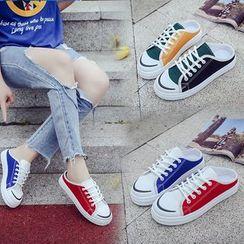 Yuche - Color Block Sneaker Mules
