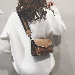 Beebird - Faux Leather Flap Crossbody Bag
